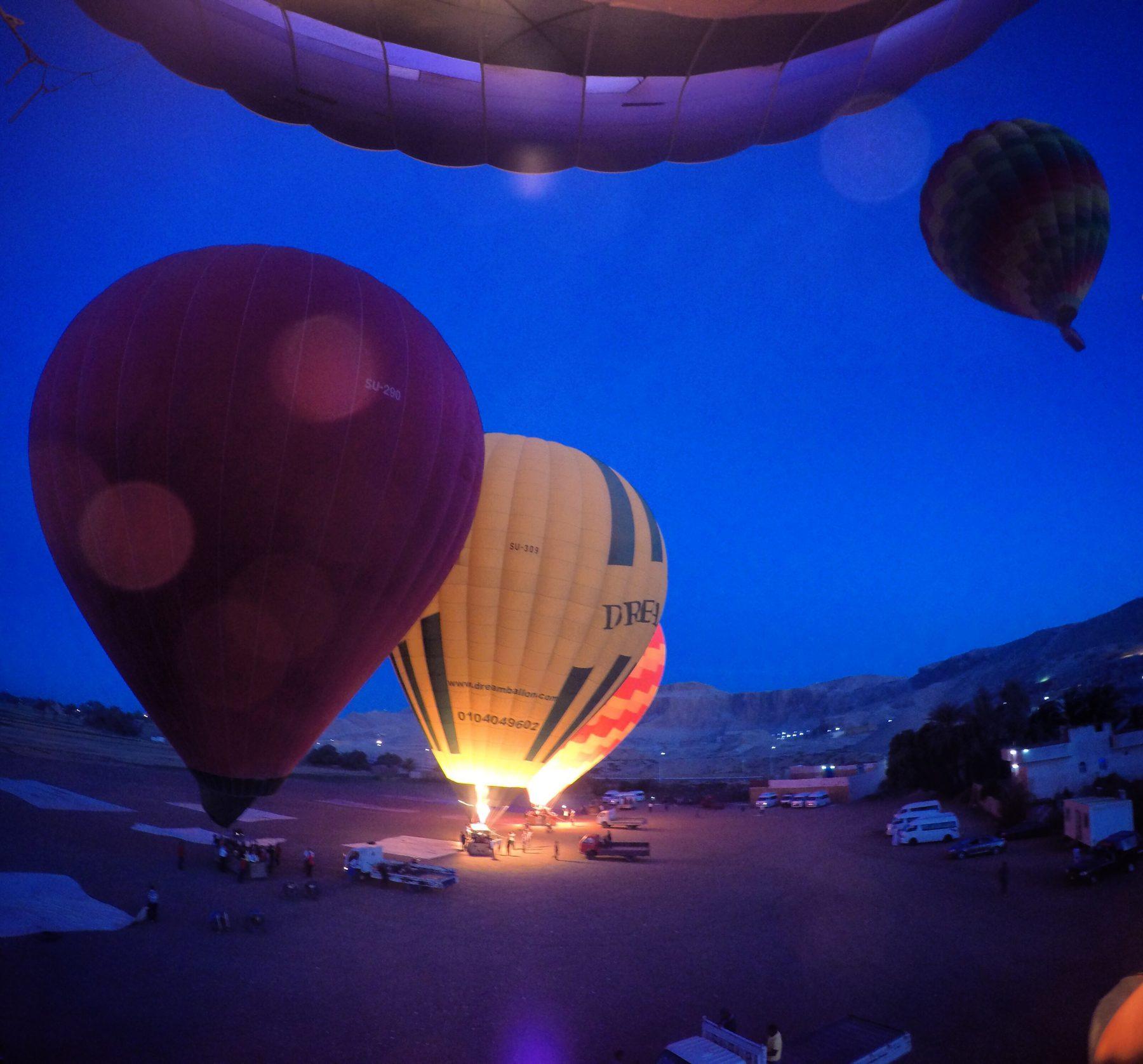 Hot air balloon luxor egypt