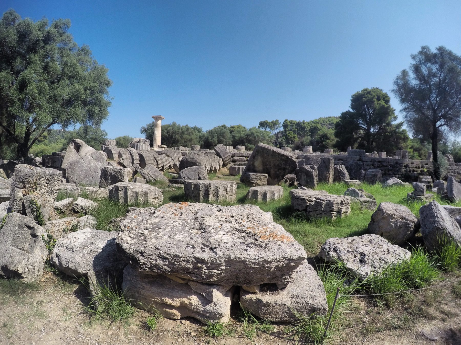 Ancient Olympia temple of zeus
